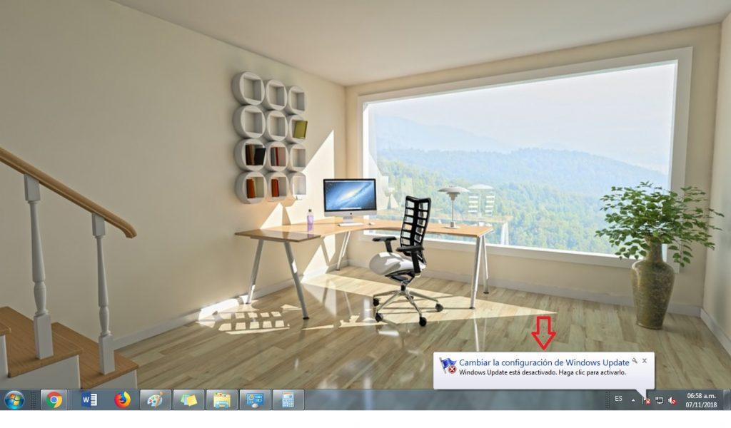 detener actualizaciones windows 7