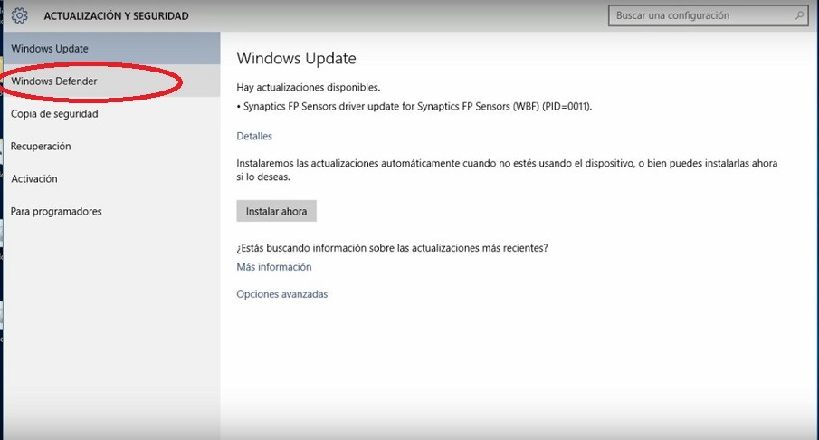 como desactivar windows defender temporalmente