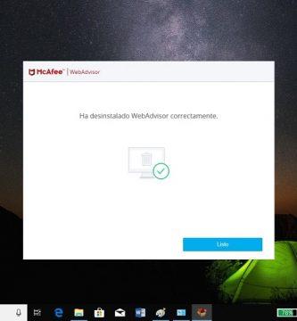 como desinstalar el antivirus mcafee en windows 10