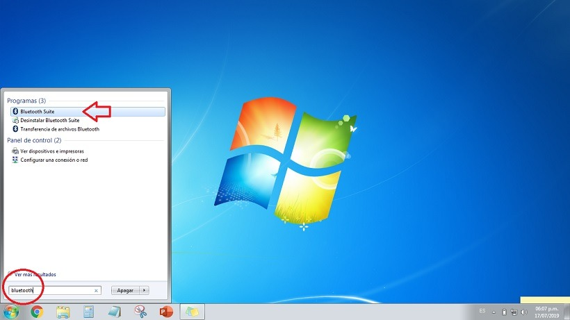activar bluetooth windows 7