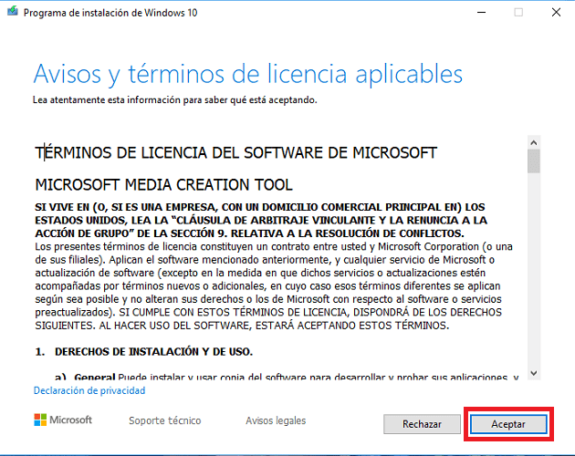 instalar windows 10 con usb