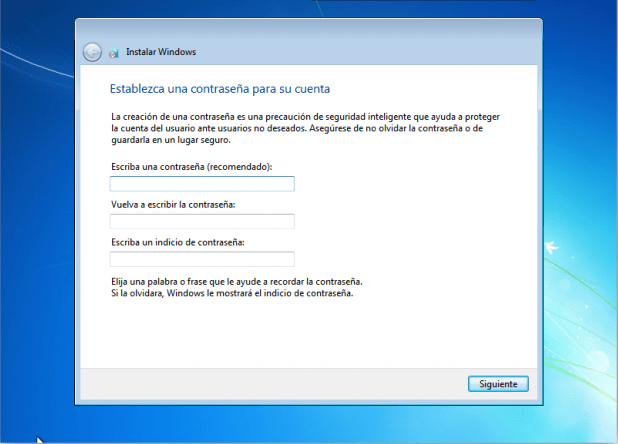 windows 7 pasos de instalacion