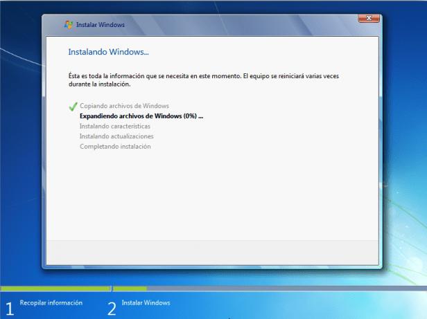 pasos para instalar windows 7 con imagenes