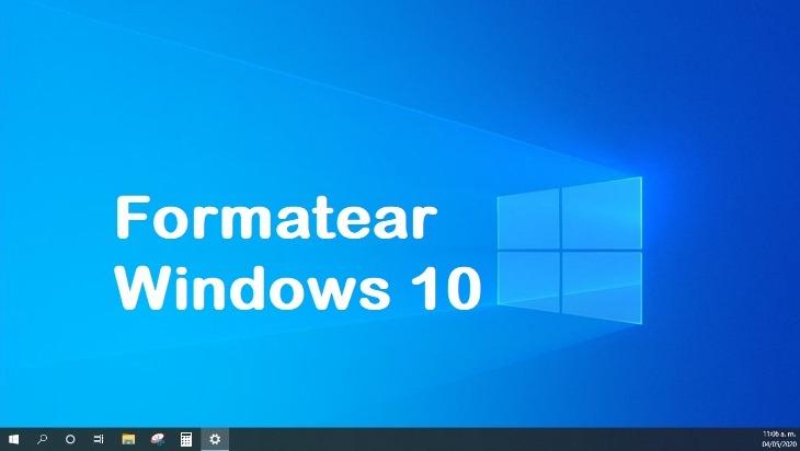 como formatear una pc con windows 10