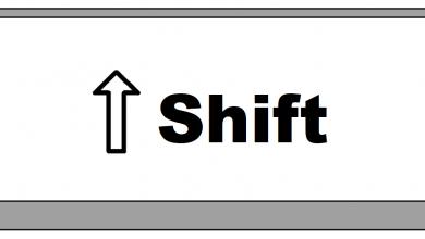 tecla shift pc